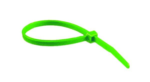 """11"""" 50lb Florescent Green Cable Ties 100/bag Part # C11-50-Flor Green 1"""