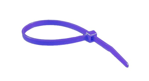 "11"" 50lb Purple Cable Ties 100/bag Part # C11-50-Purple 2"