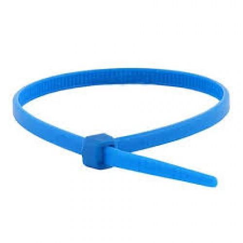 """11"""" 50lb Blue Cable Ties 100/bag Part # C11-50-Blue 2"""