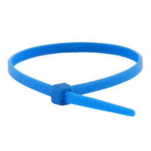 "4"" 18lb Blue Cable Ties 100/bag Part # C4-18-Blue 2"
