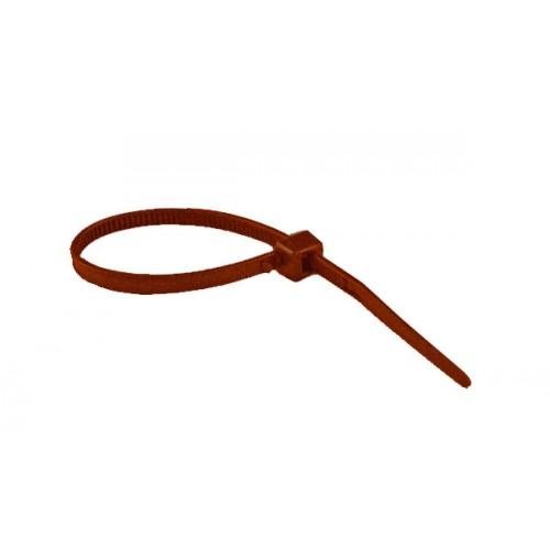 """4"""" 18lb Brown Cable Ties 100/bag Part # C4-18-Brown 2"""
