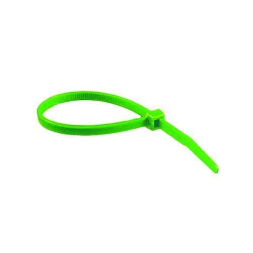 "4"" 18lb Florescent Green Cable Ties 100/bag Part # C4-18-Flor Green 3"