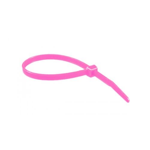 """6"""" 40lb Florescent Pink Cable Ties 100/bag Part # C6-40-Flor Pink 1"""