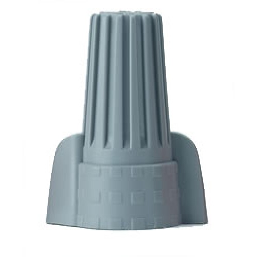 Winged Wire Connector, Gray (50/Pack)