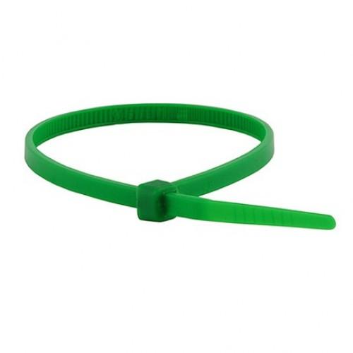 """4"""" 18lb Green Cable Ties 100/bag Part # C4-18-Green 3"""