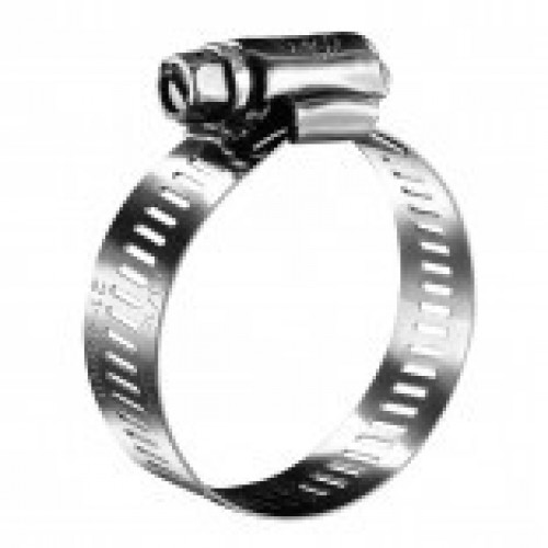 #12P Stainless Steel Hose Clamp w/ Zinc Plated Screw