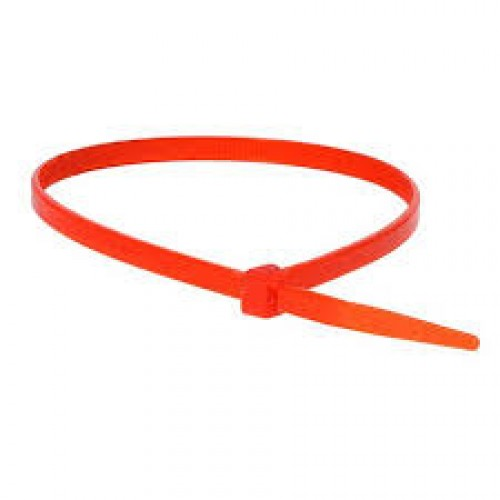 "8"" 50lb Red Cable Ties 100/bag Part # C8-50-Red 2"