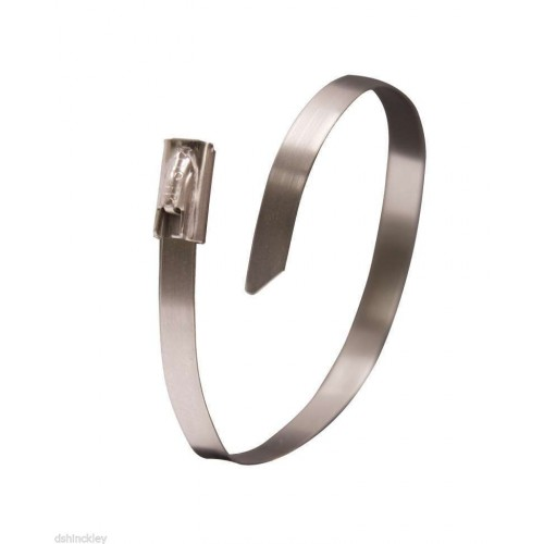 """8"""" 300lb - 316 Stainless Steel Cable Ties 100/bag"""