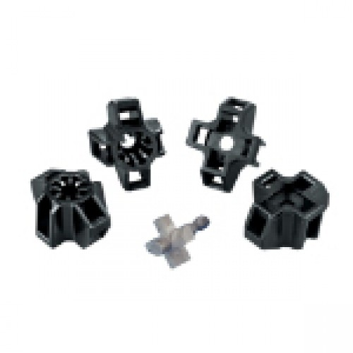 XMNY-375-0-D Cable Tie Heavy Duty Application Mounting Base Black Nylon 6.6 UV Stabilized Stud Mount Mounting- 3/8 Stud