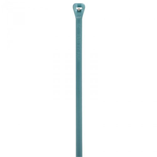 "Thomas & Betts TYZ523M 4"" 18lb Aqua Radiation Resistant Fluoropolymer Cable Tie 100/Bag"