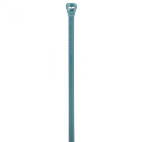 "Thomas & Betts TYZ27M 13"" 120lb Aqua Radiation Resistant Fluoropolymer Cable Tie 100/Bag"