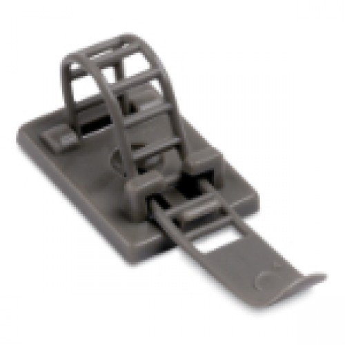 ULNY-023-8-C Cable Clamp Adjustable/Ladder Gray Nylon 6/6 Rubber-Based Adhesive with Optional #5 Screw Mount for Maximum Bundle 3.37