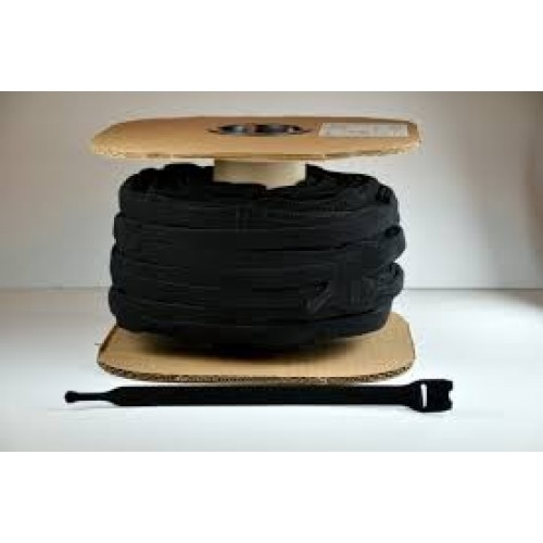"12"" x 1"" Velcro® Brand One Wrap® Straps Black 450/Spool"